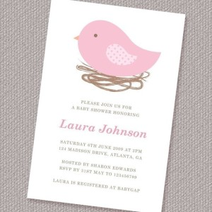 Picture of the Bird Nest Baby Shower Invitations