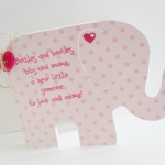 Picture of Baby Girl Elephant Card